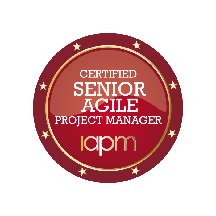 All information about the Certified Senior Agile Project Manager (IAPM) certification