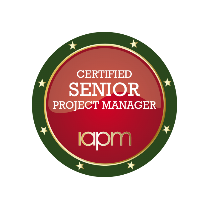 All information about the Certified Senior Project Manager (IAPM) certification