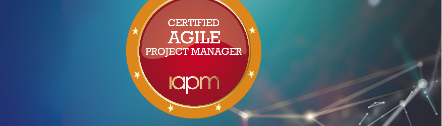 Badge of the Certified Agile Project Manager (IAPM) certification.